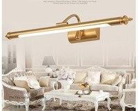 Free Shipping LED Brass Wall Light Modern Bedroom Wall Light Mirror Bracket LED AC110V 220V Indoor Bedroom Cabinet Mirror Lamp