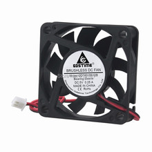 5PCS Gdstime 60x60x15mm DC 5V 2 Pin 60mm Cooler Brushless Axial PC CPU Case Cooling Fan 6015 10pcs gdstime 5v 60mm dual ball fan 60mm x 10mm dc brushless cooling cooler fan for industry pc cpu computer case