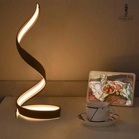 Minimalist Style NEW Radian Curved 15W Aluminium Led Lamp Living Room Luxury Bedroom Idea Home Decoration