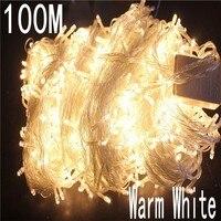 Ciepły biały kolor 100 metr 800 LED oświetlenie bożonarodzeniowe 8 tryb na dekoracyjne świąteczne przyjęcia weselne wewnątrz/użycie na zewnątrz w Oświetlenie wakacyjne od Lampy i oświetlenie na