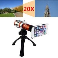2017 телефон Объективы для фотокамер комплект 20X зум телефото объектива телескопа для Samsung Galaxy S3 S4 S5 S6 S7 Edge Plus Примечание 3 4 5 штатив