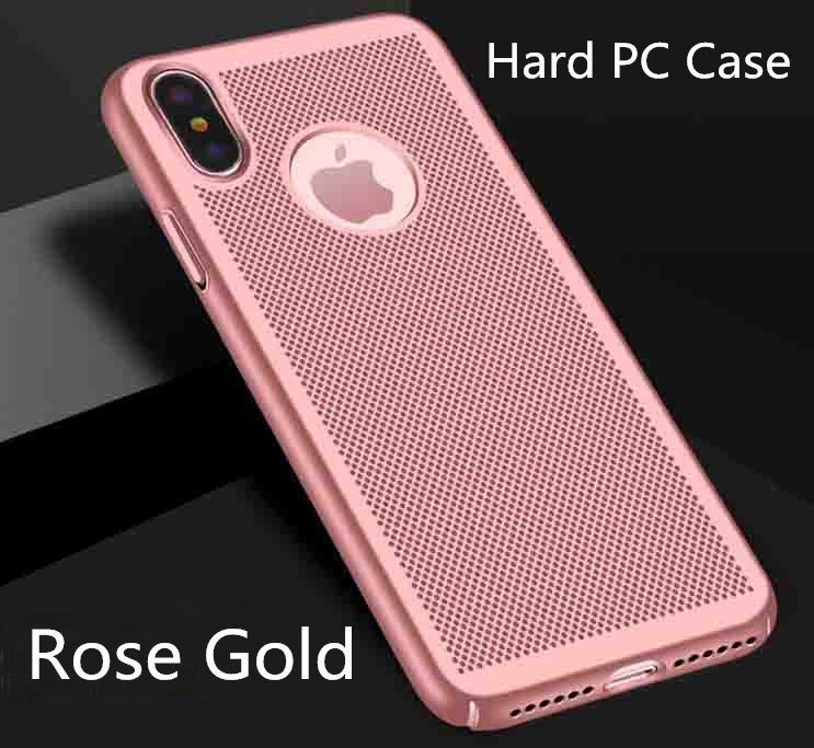 Hard PC Plain Phone Case for iPhone 6 6s 5 5s 7 8 7Plus 8Plus Solid Color for iPhone X Red Black Gold Purple Pink Gold in Half wrapped Cases from Cellphones Telecommunications