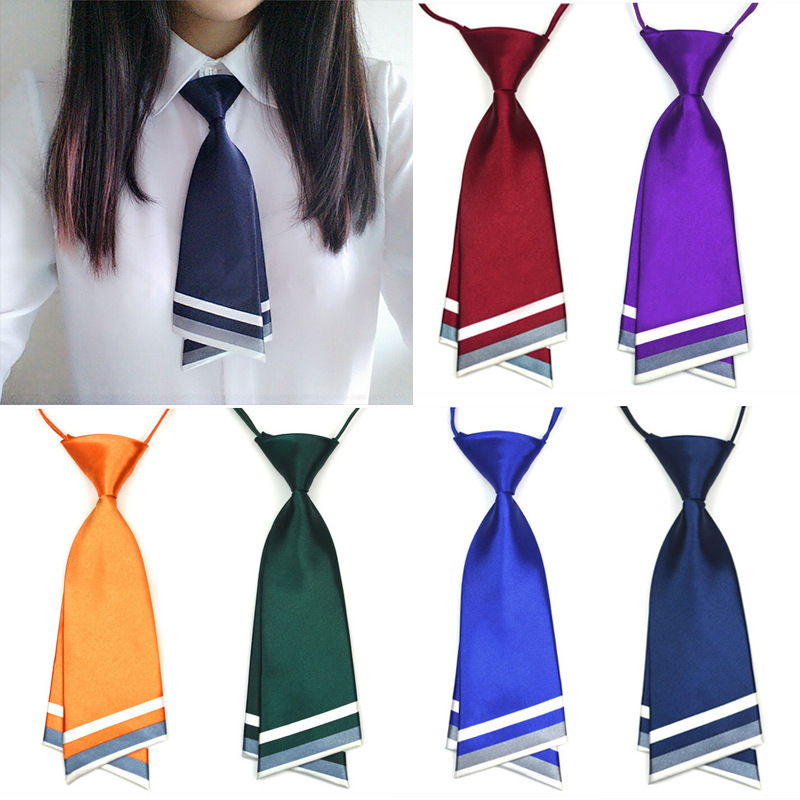 Black Neck Tie For Women Fashion Ties for Gravata Professional Uniform Neckties Female College Student Bank Hotel Staff Tie(China)