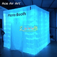 2018 portable inflatable photo booth backdrop,office cube air structure,foto booth enclosure station party tents for events