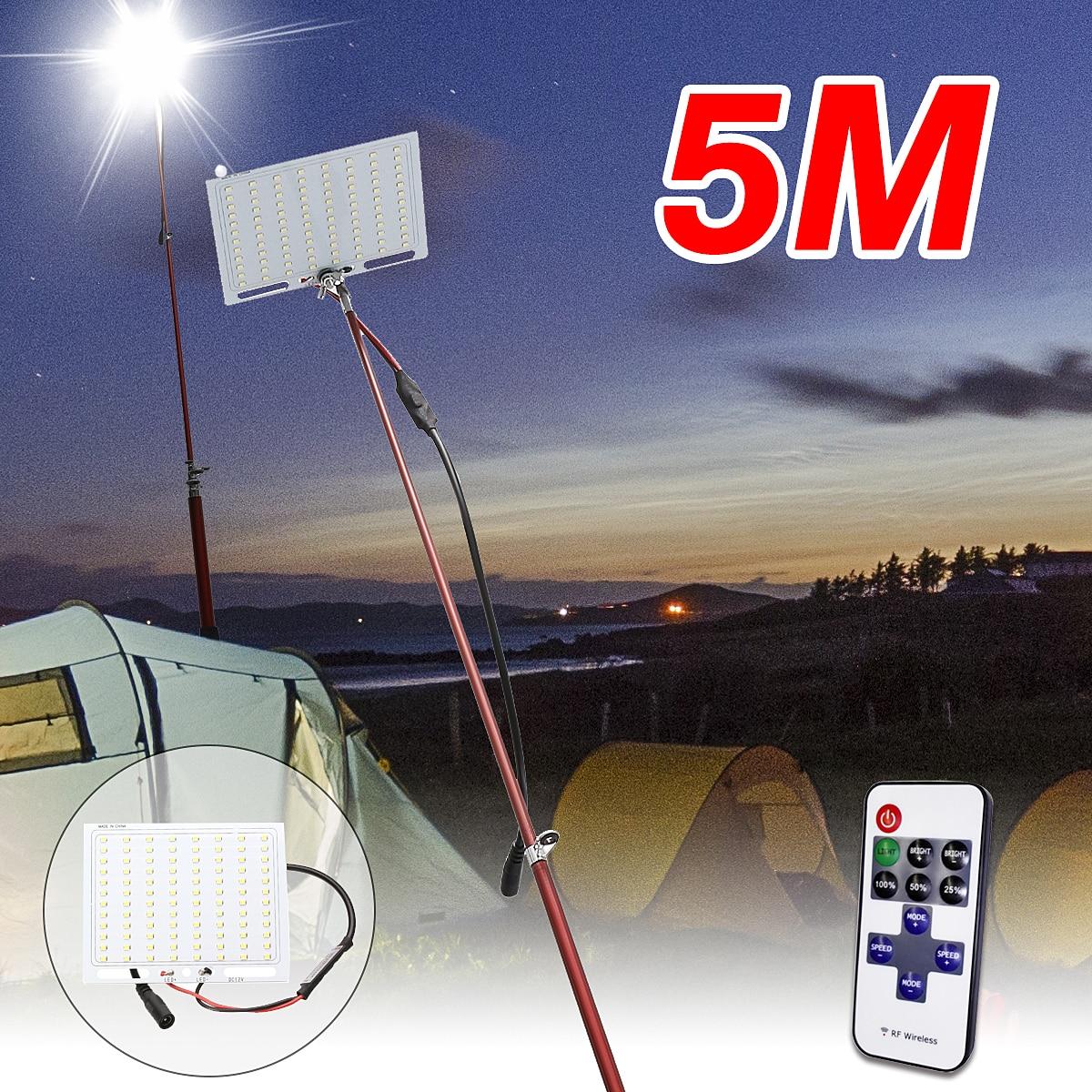 купить 5M Portable Telescopic Fishing Rod Remote Control Car LED Lantern Outdoor Camping Night Fishing Lamp Light по цене 2196.32 рублей