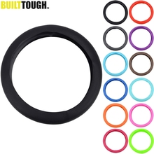 1pc Steering Wheel Cover For Car Auto Leather Texture Silicone Steering Wheel Glove Cover Soft Silicon Universal Car Styling