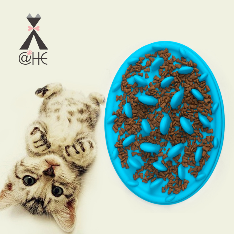 @HE Dog Silicone Feeder Cat Food Bowl Dogs Slow Feeding Bowls Pet Accessories Feeders For Dogs Cats Pets Feeding Supplies