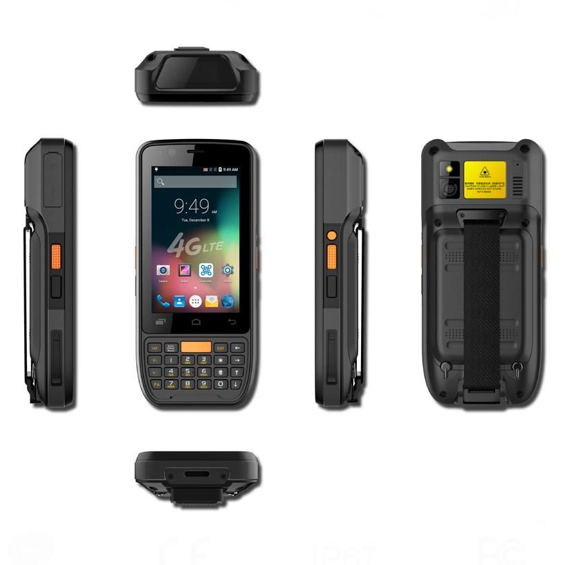 movel ao ar livre portatil de telefone inteligente android 6 0 4g lte hahdheld 2d barcode