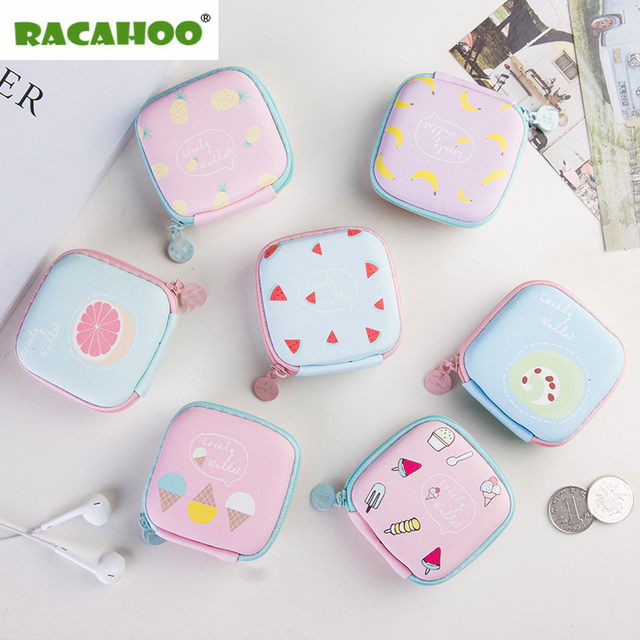 Racahoo 1 Pcs Earphone Bag Case Storage Carrying Hard Box Headphone Stand For Headset Earbuds Memory Card Money Key Box Organizer by Racahoo