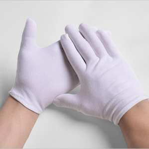 gtglad 1pair white work cotton cloth thin thick gloves