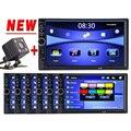 Hot 2 Din Player De Vídeo Do Carro 7 ''HD Bluetooth Estéreo Rádio FM MP3 MP5 Áudio USB Auto Eletrônica autoradio Com Vista Traseira câmera