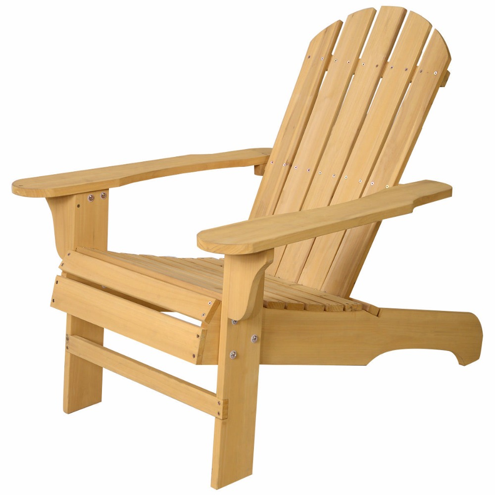 New Outdoor Natural Fir Wood Adirondack Chair Patio Lawn Deck Garden  Furniture HW48521 in Garden Chairs from Furniture on Aliexpress com    Alibaba Group. New Outdoor Natural Fir Wood Adirondack Chair Patio Lawn Deck