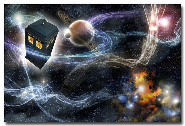 Шелковый плакат гобелен Доктор Кто тардис в ассортименте