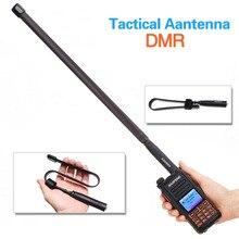 ABBREE AR 152A SMA Weibliche 144/430MHz Taktische Antenne für Baofeng Walkie Talkie DM 1701 DM 1702 DM 1801 DM 860 DM X DMR Radio