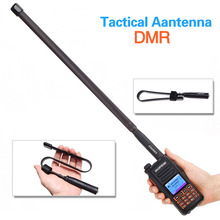 ABBREE AR 152A SMA kadın 144/430MHz taktik anten Baofeng Walkie Talkie için DM 1701 DM 1702 DM 1801 DM 860 DM X DMR radyo