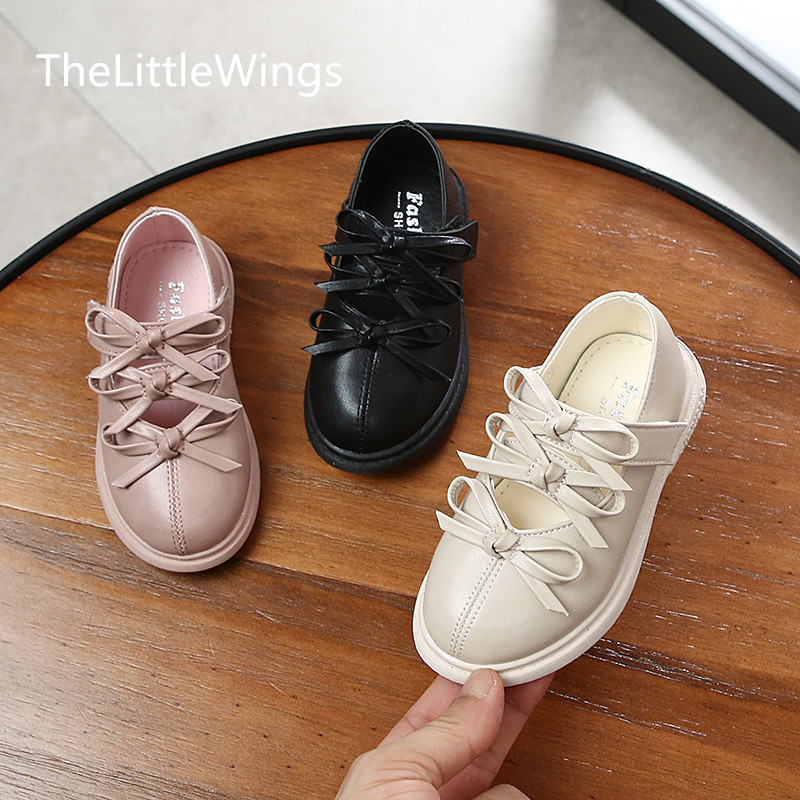 Girl Roman Shoes Autumn 2019 Korean Version Girl Princess Shoes Soft-soled bowknot Casual Shoes 1-3 Years Old