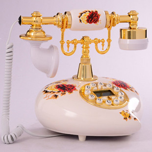 Xinyu ceramic antique telephone / phone / European style retro fashion style free battery display