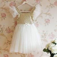 Fascinated Cap Sleeves Flower Girl Dresses with Bow Brilliant Crystal Knee Length Tulle Flower Girl Dresses