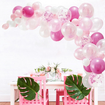 66pcs/set Rose Gold Balloon Arch Kit White Latex Balloon Wedding Party Garland Balloons Baby Shower Supplies Backdrop Decor 1