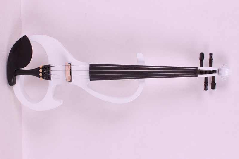 white 4/4 New 4 string Electric Acoustic Violin   2# 4 string 4 4 3 4 new electric acoustic violin yellow 1