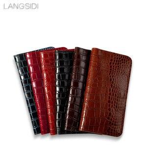 Image 5 - Wangcangli брендовый чехол для телефона из натуральной телячьей кожи крокодиловая Текстура Флип многофункциональная сумка для телефона для Huawei P9 Plus ручная работа