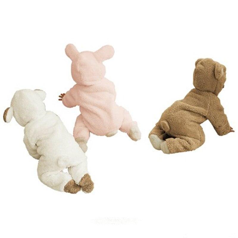 1 комплект, классический детский комбинезон с накидкой для зимы, комбинезон с длинными рукавами, детская одежда, комбинезон для малышей, одежда с рисунком медведя, кролика, поросенка, 3 цвета