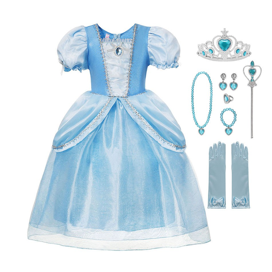 Girls Unicorn Dress Princess Dressing Up Costume Outfit Age 3-10 Years