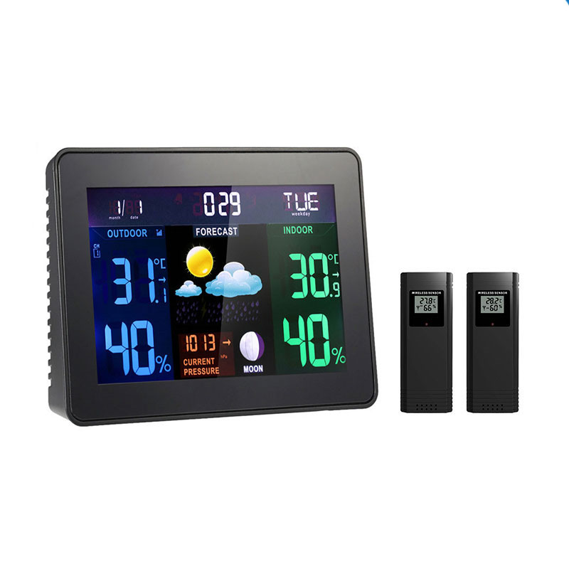 Wifi Wireless Weather Station Indoor Outdoor Temperature Humidity Weather Meter Hygrometer Thermometer Weather Forecast LCD