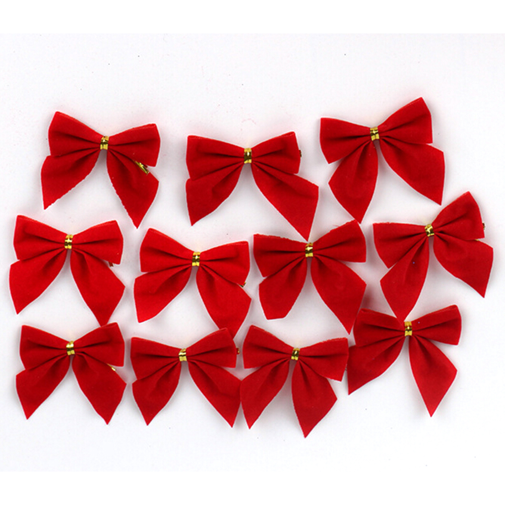 12 Pc/lot Pretty Bow Tie Christmas Tree Ornaments