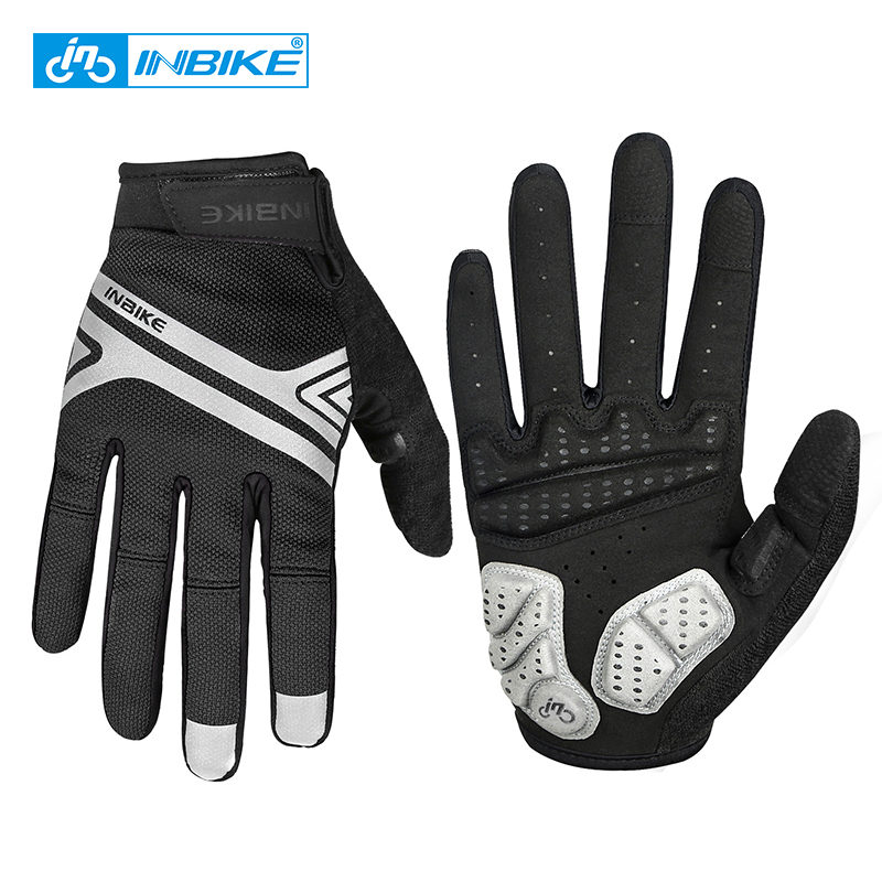 INBIKE Cycling Gloves Touch Screen GEL Bike Gloves Sport Shockproof MTB Road Full Finger Bicycle Glove For Men Woman ciclismo
