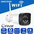 720 p WI-FI Câmera IP HD 1MP Megapixel Onvif Ao Ar Livre IP65 Sem Fio CCTV segurança IP Cam P2P Bala Infravermelho IR Slot Para Cartão SD Kamera