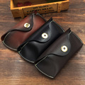 Genuine Leather Glasses Case Box Vegetable Tanned Leather Handmade Sunglass Holder Women Cute Reading Eyewear Accessories R028