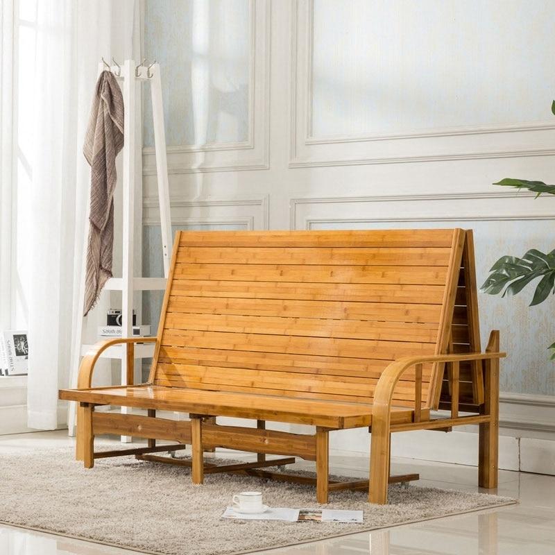 Multi Functional Bamboo Folding Bed Sofa Bedroom Furniture Modern
