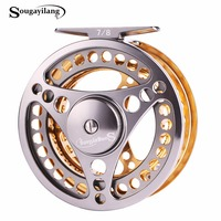 Sougayilang 7 8 WT Fly Fishing Reel CNC Machine Cut Fishing Reel Large Arbor Die Casting