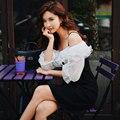 Женское винтажное платье Dabuwawa  платье средней длины с лямкой на шее и оборками  а-силуэта  DN1ADR017