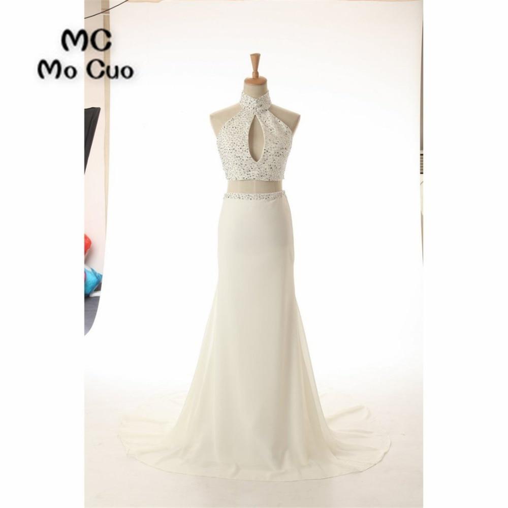 Elegant Mermaid   Prom     dresses   Long with Beaded Halter Off Shoulder   dress   for graduation Backless Formal Evening   Prom     Dress