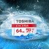 Original TOSHIBA Exceria Micro SD CARD SDHC/SDXC Class 10 U3 level 90MB/S 16GB 32GB 64GB 128gb Support Official Verification