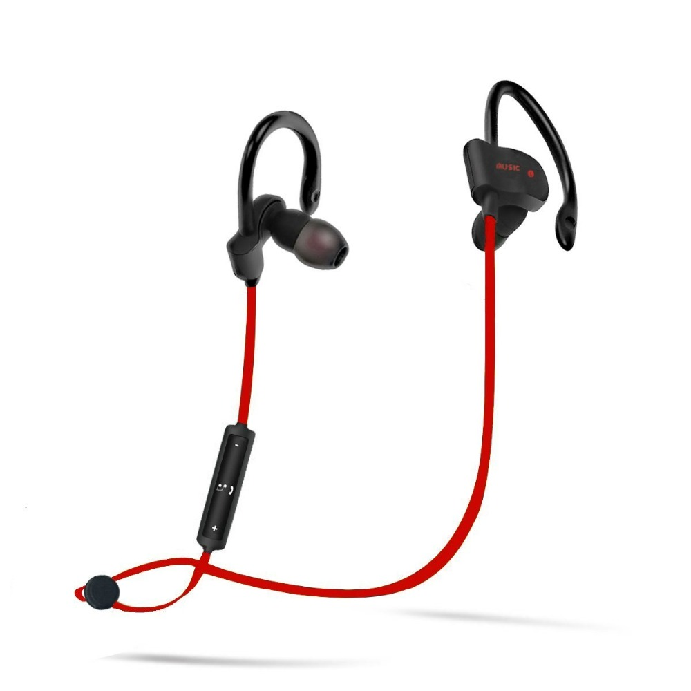Sports Bluetooth Headset Sweatproof HD Stereo Wireless Bluetooth Earphone Headphone Support Microphone Music for Phone Vikky 56S