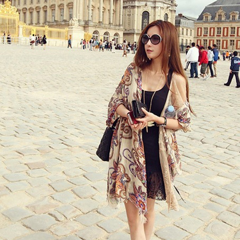 High Quality Fashion Printing Women Ladies Charm Warm Soft Voile Scarf Chiffon Neck Wrap Shawl CC7170