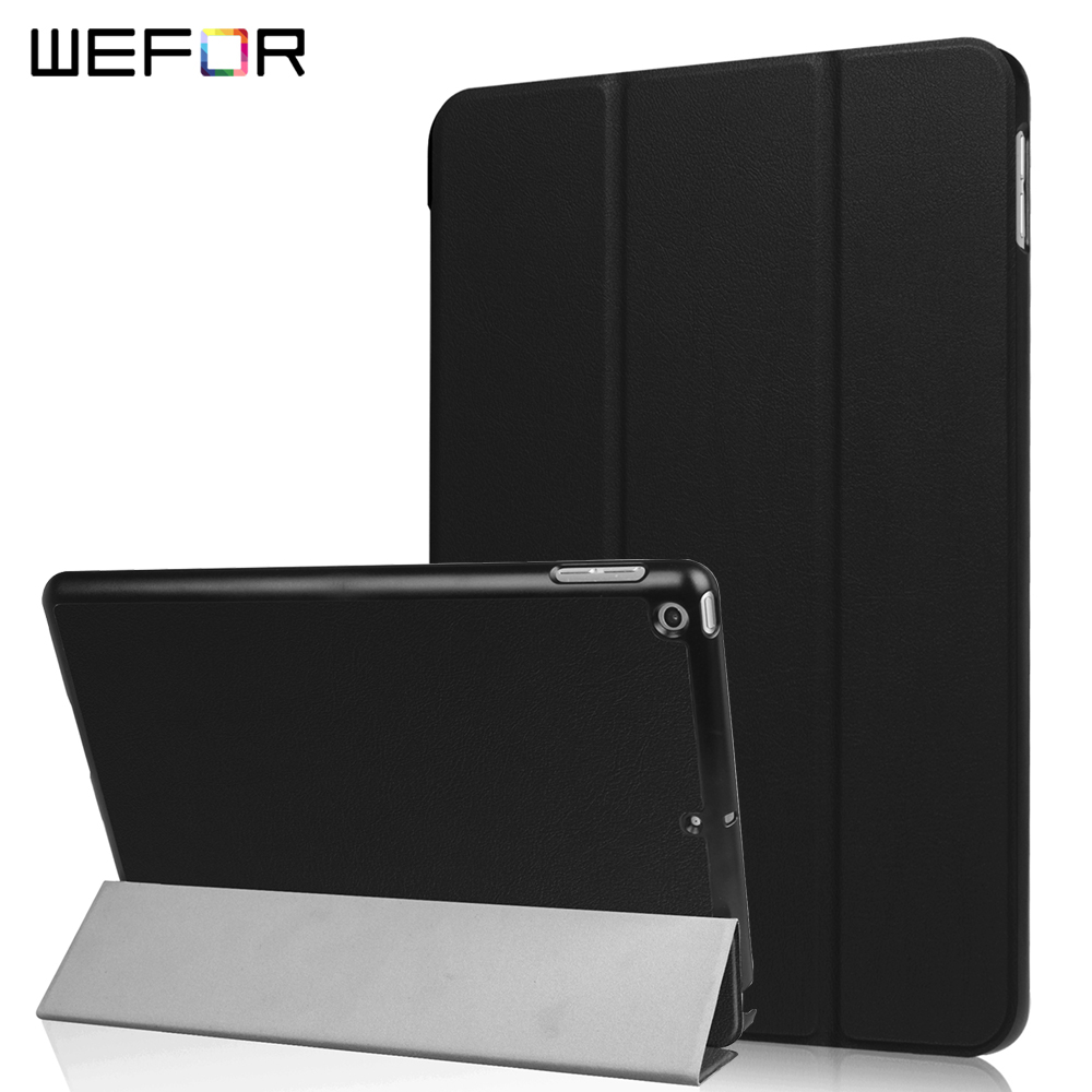 Smart Case for New 2017 iPad 9.7,PU Leather+Ultra Slim Light Weight PC Back Cover Case Auto Wake/Sleep Folding Stand Coque back shell for new ipad 9 7 2017 genuine leather cover case for new ipad 9 7 inch a1822 a1823 ultra thin slim case protector