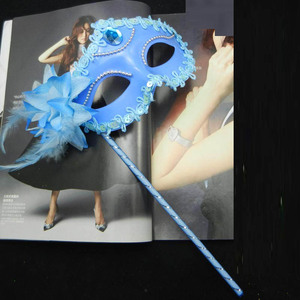 Image 2 - Sexy Prom Wedding Party Mask Women Costume Venetian Cosplay Masquerade Dance Masks Handheld Stick Carnival Purim Festival Parade