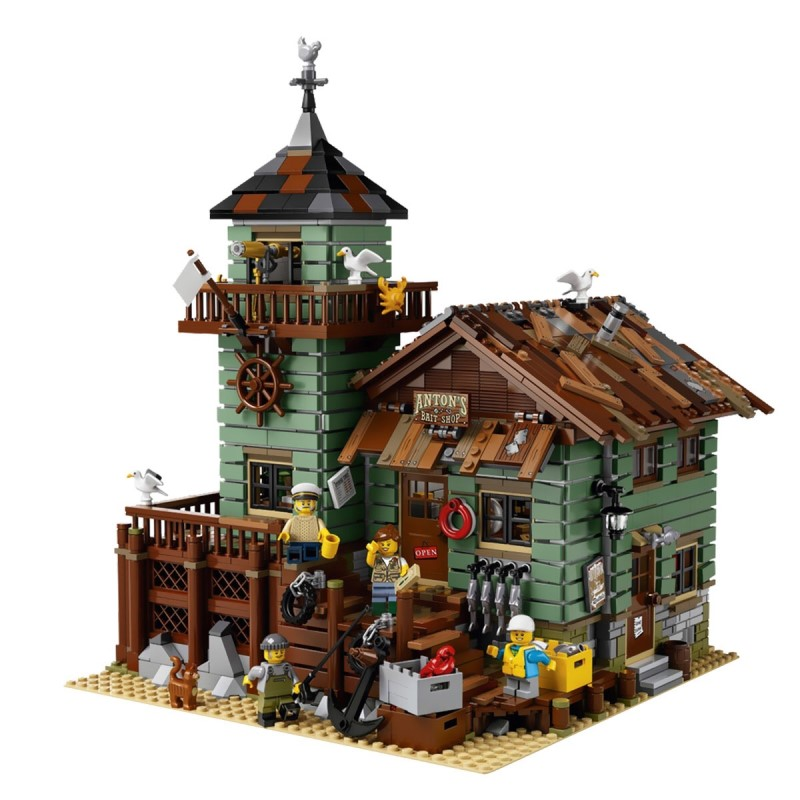 2109PCS LEPIN 16050  Big fish house film series assembled Building Blocks Bricks Compatible toys boy gift Model Clone 21310 luxury gift blue mosque 3d puzzles model big building construction toys max level iq game huge house decoration collection model