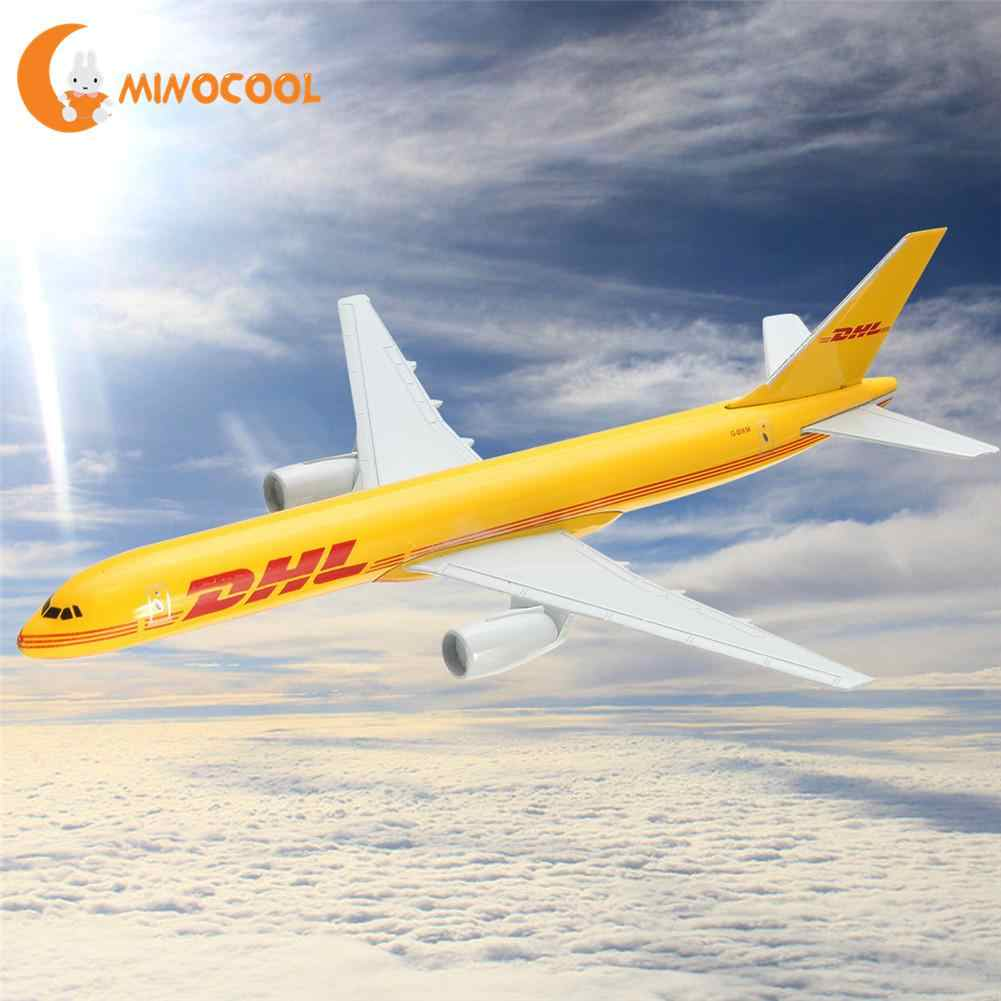 B757 DHL Kargo 16CM Metal Airplane Model Plane Model Aircraft  Model Building Kits Toy For Children