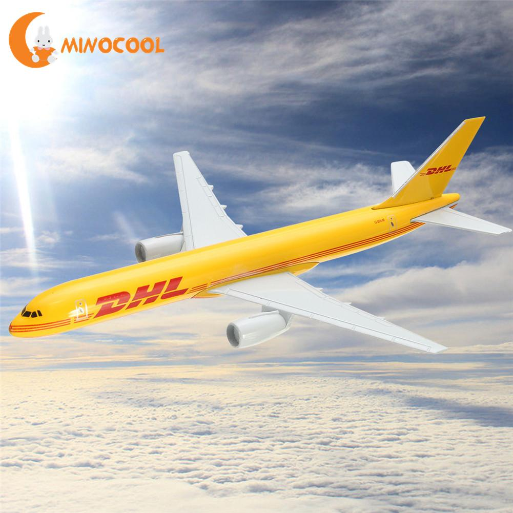 B757 DHL Kargo 16CM Metal Airplane Model Plane Model Aircraft Model Building Kits Toy For Children free shipping 16cm 757 dhl metal alloy model plane aircraft model toy airplane birthday gift