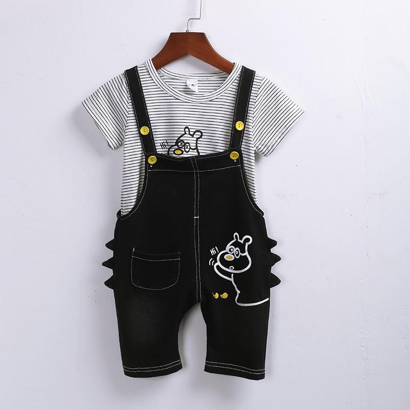 Lomila Hot t Sale Brand Boys Clothing Children Summer Clothes Cartoon Kids Boy Set T-shit+Pants Cotton