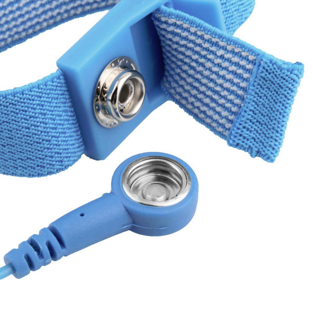 ESD רצועת יד אליגטור קליפ אנטי סטטי הארקה בנד פריקה למנוע סטטי הלם סיטונאי 2018 חדש הגעה