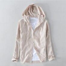 cefa206175e706 Suehaiwe marki z długimi rękawami koszula z kapturem mężczyzn i pościel  bawełna jesień mężczyźni koszule dorywczo