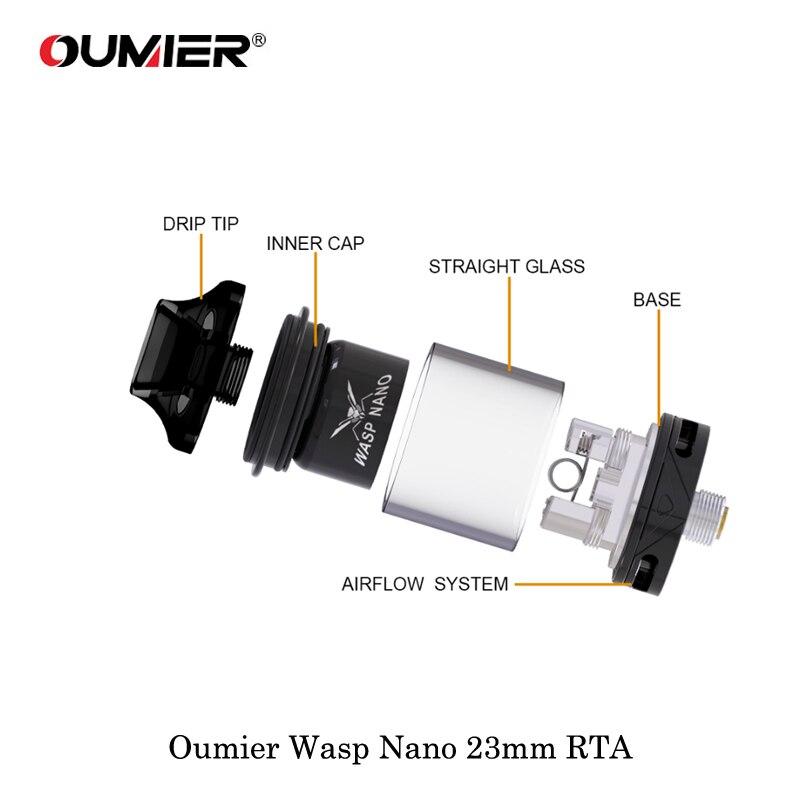 Resultado de imagem para Oumier Wasp Nano 23mm RTA