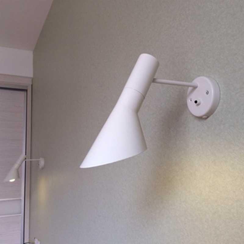 Современное искусство железного бра кровать кабинет творческий Nordic AJ настенный светильник бар отеля Обеденная современный бра 1 Свет
