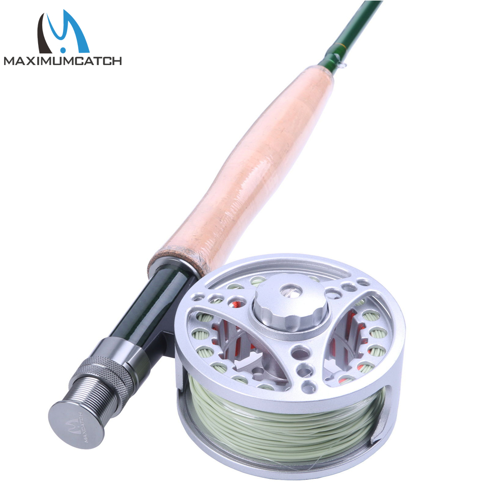 Maximumcatch 9FT 5WT Fly Rod And Reel Combo Fly Fishing Rod & Pre-spooled Aluminum Fly Reel maximumcatch fly fishing rod combo 9ft fly rod